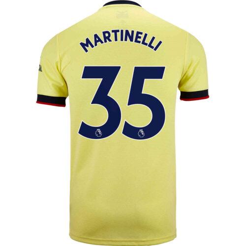 2021/22 Kids adidas Gabriel Martinelli Arsenal Away Jersey
