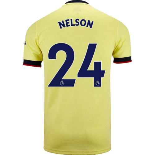 2021/22 Kids adidas Reiss Nelson Arsenal Away Jersey