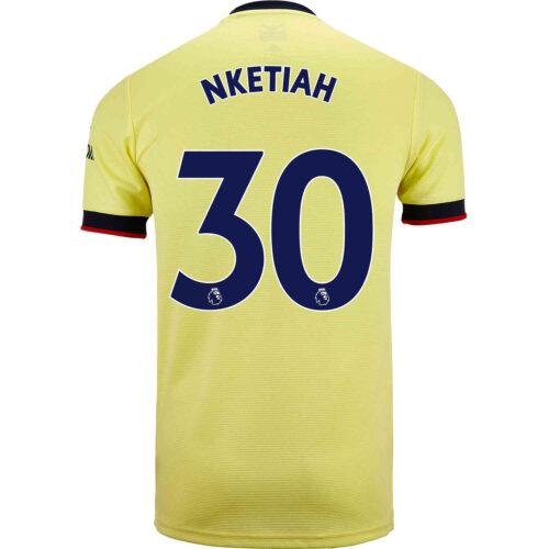 2021/22 Kids adidas Eddie Nketiah Arsenal Away Jersey