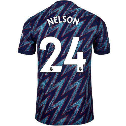 2021/22 Kids adidas Reiss Nelson Arsenal 3rd Jersey