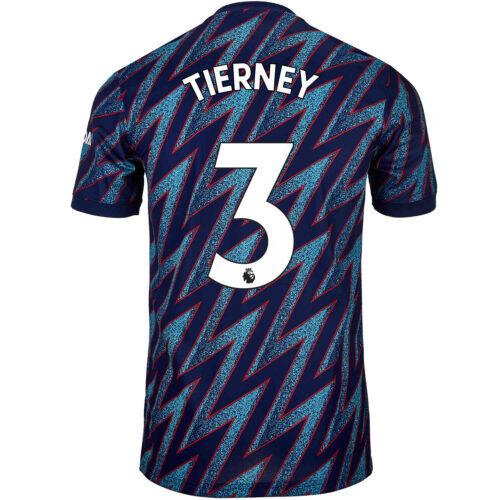 2021/22 Kids adidas Kieran Tierney Arsenal 3rd Jersey