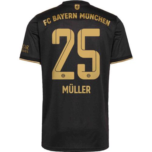 2021/22 Kids adidas Thomas Muller Bayern Munich Away Jersey
