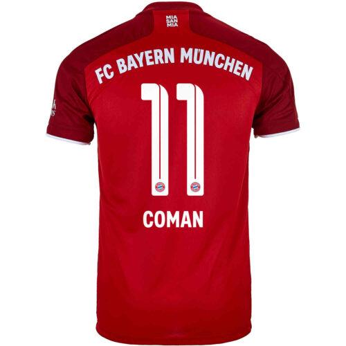 2021/22 Kids adidas Kingsley Coman Bayern Munich Home Jersey