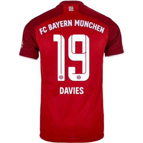 2021/22 Kids adidas Alphonso Davies Bayern Munich Home Jersey