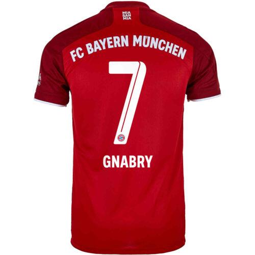 2021/22 Kids adidas Serge Gnabry Bayern Munich Home Jersey