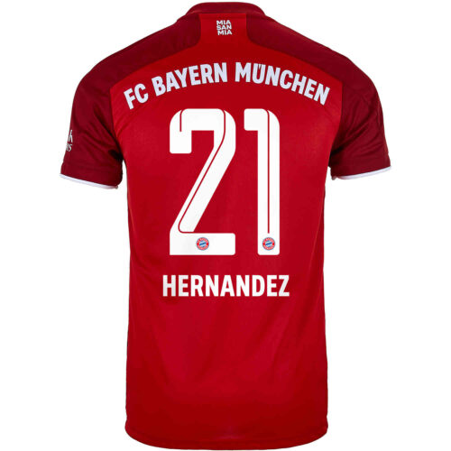 2021/22 Kids adidas Lucas Hernandez Bayern Munich Home Jersey