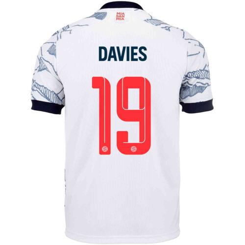 2021/22 Kids adidas Alphonso Davies Bayern Munich 3rd Jersey