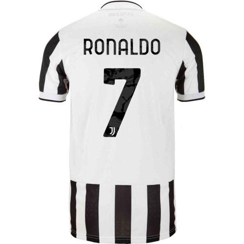 2021/22 Kids adidas Cristiano Ronaldo Juventus Home Jersey