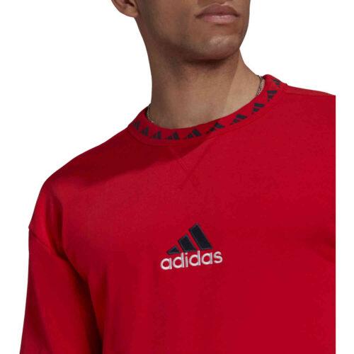 adidas Bayern Munich Icons Crew Sweatshirt – Active Red