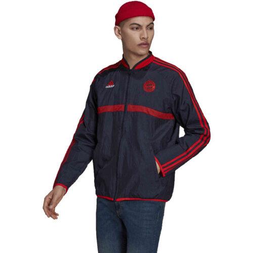 adidas Bayern Munich Icons Woven Jacket – Night Navy