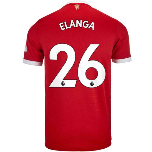2021/22 Kids adidas Anthony Elanga Manchester United Home Jersey