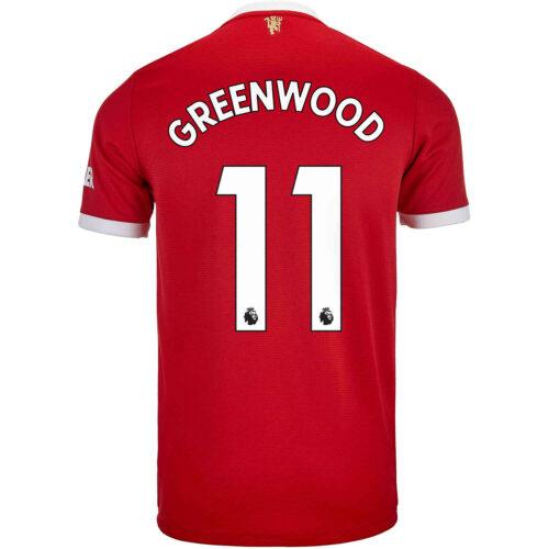 2021/22 Kids adidas Mason Greenwood Manchester United Home Jersey