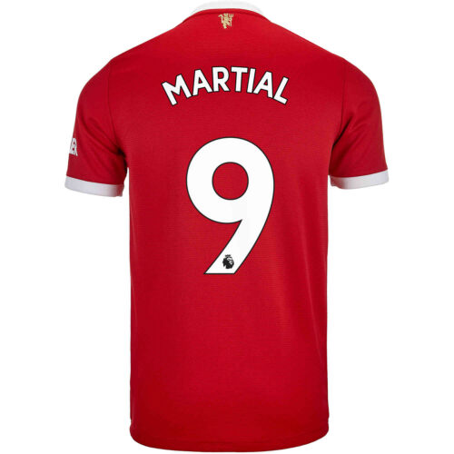 2021/22 Kids adidas Anthony Martial Manchester United Home Jersey