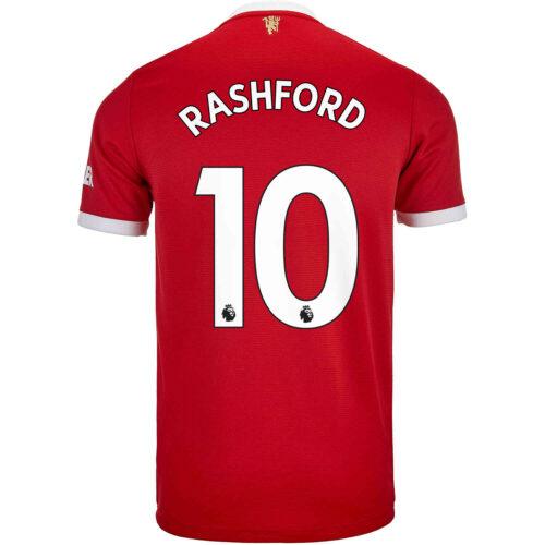 2021/22 Kids adidas Marcus Rashford Manchester United Home Jersey