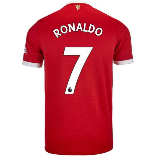 2021/22 Kids adidas Cristiano Ronaldo Manchester United Home Jersey