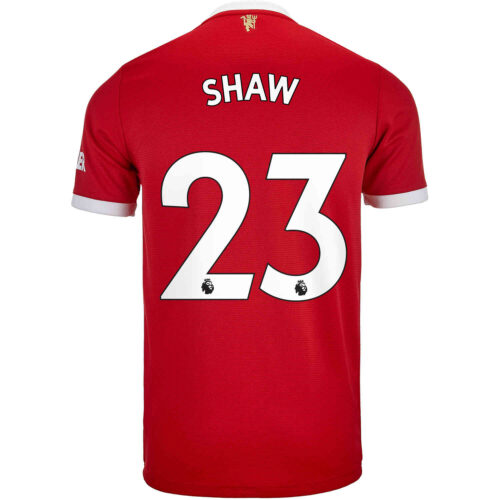 2021/22 Kids adidas Luke Shaw Manchester United Home Jersey