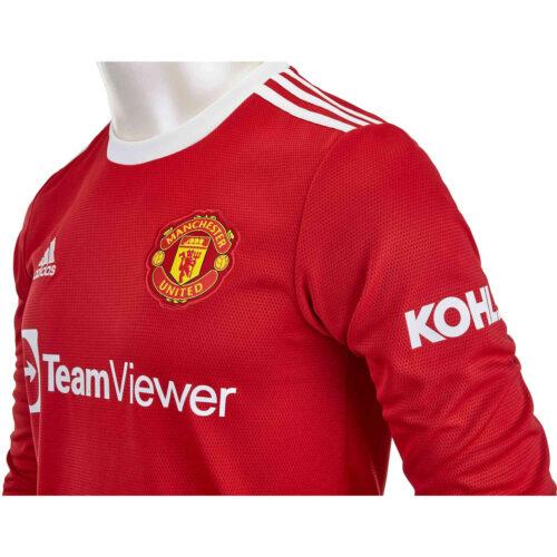 2021/22 adidas Mason Greenwood Manchester United L/S Home Jersey