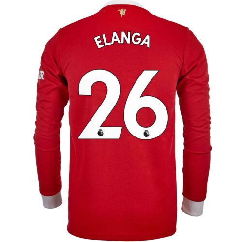 2021/22 adidas Anthony Elanga Manchester United L/S Home Jersey