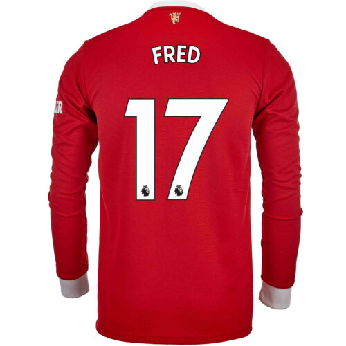2021/22 adidas Fred Manchester United L/S Home Jersey