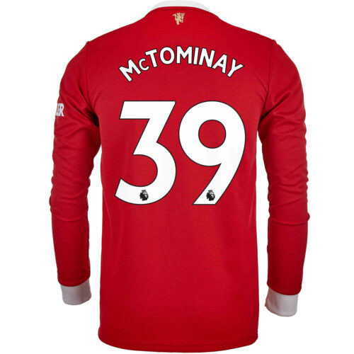 2021/22 adidas Scott McTominay Manchester United L/S Home Jersey