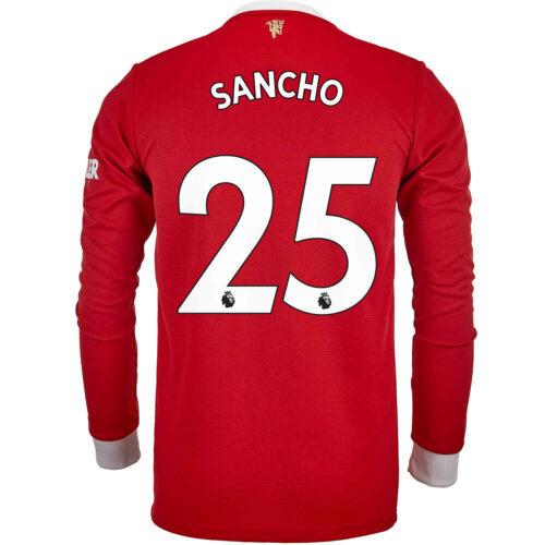 2021/22 adidas Jadon Sancho Manchester United L/S Home Jersey
