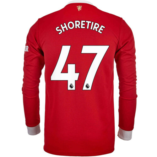 2021/22 adidas Shola Shoretire Manchester United L/S Home Jersey