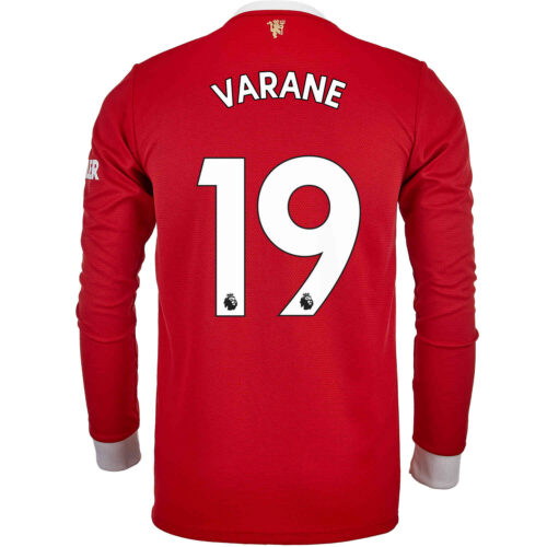 2021/22 adidas Raphael Varane Manchester United L/S Home Jersey