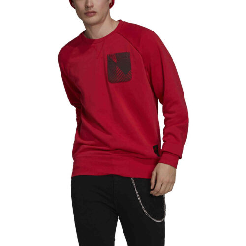 adidas Manchester United Graphic Crew – Real Red