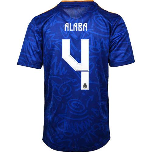 2021/22 Kids adidas David Alaba Real Madrid Away Jersey