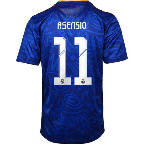 2021/22 Kids adidas Marco Asensio Real Madrid Away Jersey