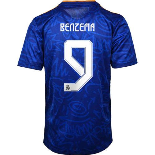 2021/22 Kids adidas Karim Benzema Real Madrid Away Jersey