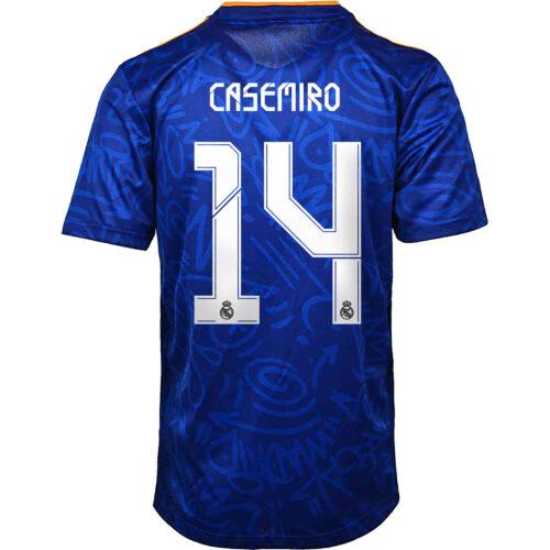 2021/22 Kids adidas Casemiro Real Madrid Away Jersey