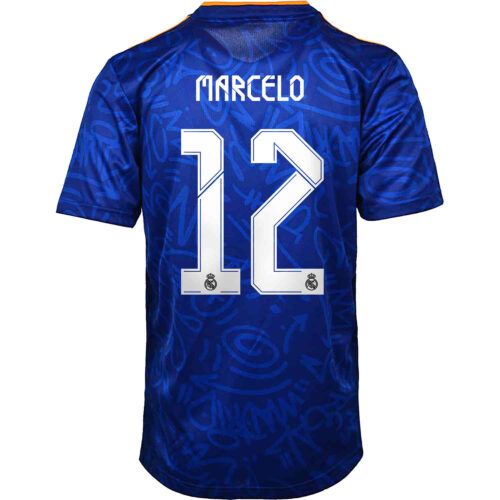 2021/22 Kids adidas Marcelo Real Madrid Away Jersey