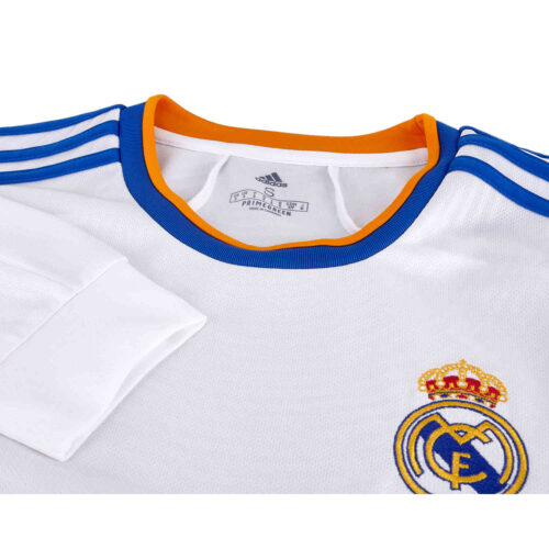 2021/22 adidas Real Madrid L/S Home Jersey