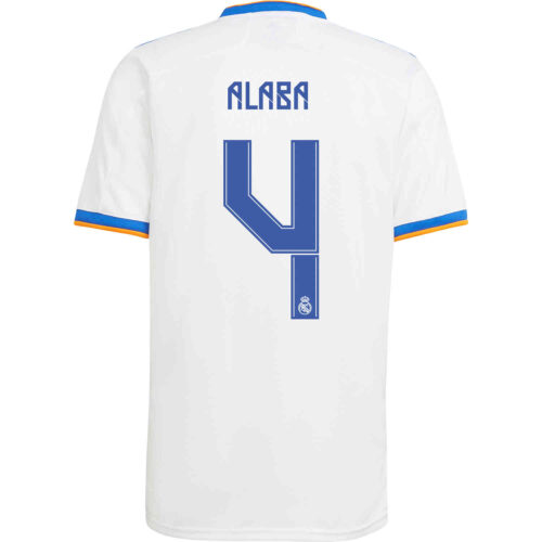 2021/22 Kids adidas David Alaba Real Madrid Home Jersey