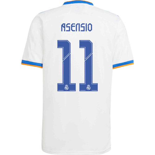 2021/22 Kids adidas Marco Asensio Real Madrid Home Jersey