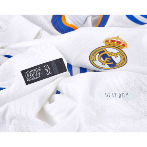2021/22 adidas Real Madrid L/S Home Authentic Jersey