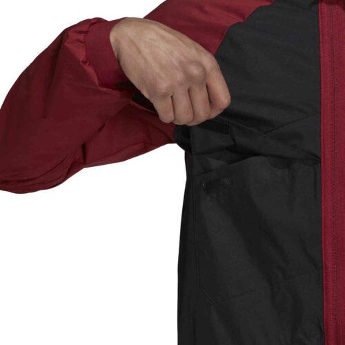 adidas Arsenal Travel Drill Jacket – Black/Noble Maroon
