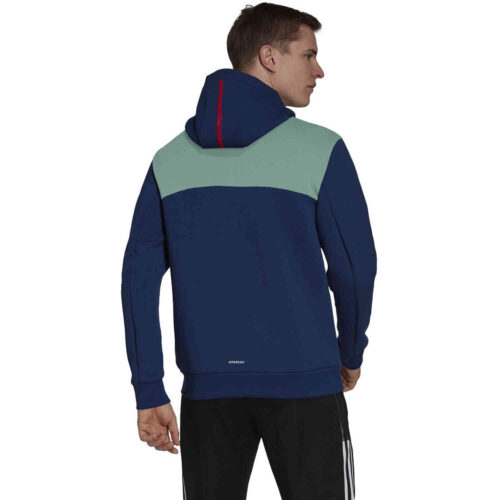 adidas Arsenal ZNE Hooded Jacket – Mystery Blue/Scarlet