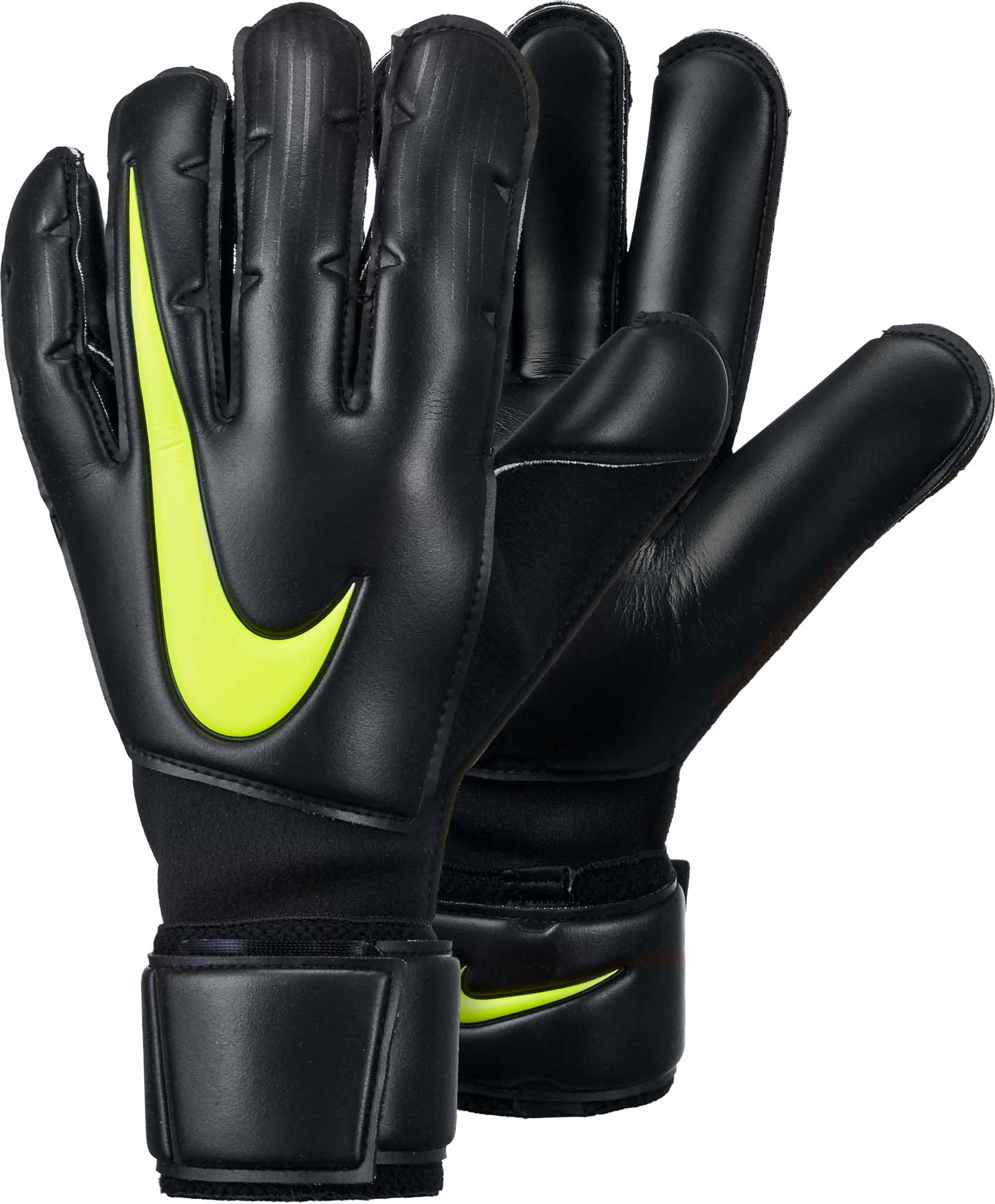 278e0fdec Nike Vapor Grip3 Goalkeeper Gloves - Black/Volt - SoccerPro.com