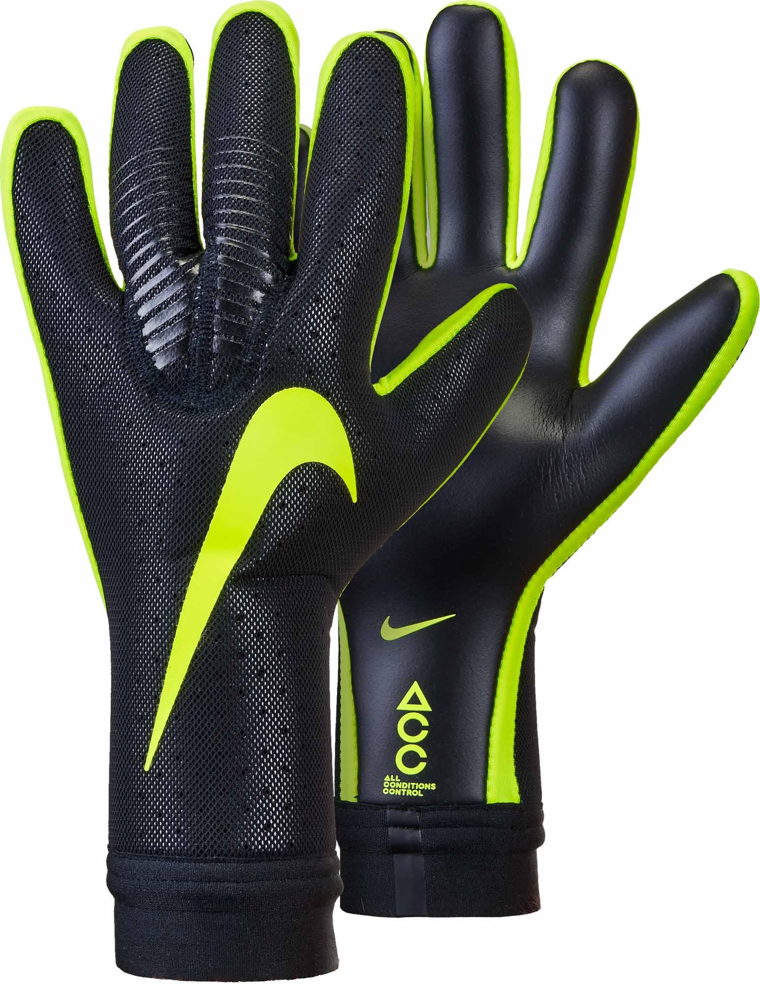 Nike Vapor Touch Goalkeeper Gloves - Black Volt - SoccerPro.com de2eabcb58