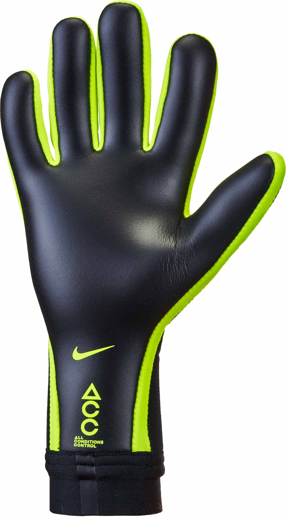 Nike Vapor Touch Goalkeeper Gloves - Black Volt - SoccerPro.com 420bf3b1014c