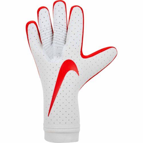 Nike Mercurial Touch Elite Goalkeeper Gloves – Pure Platinum/Light Crimson