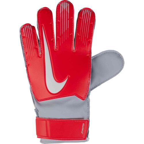 Nike Match Goalkeeper Gloves – Youth – Light Crimson/Wolf Grey/Pure Platinum