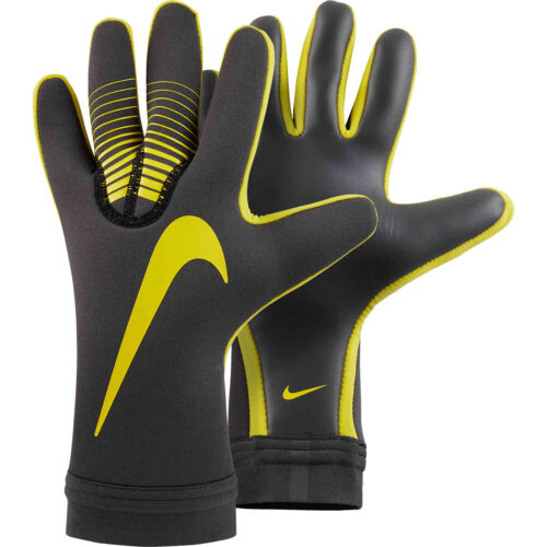 Nike Mercurial Touch Victory Goalkeeper Gloves – Anthracite/Opti Yellow