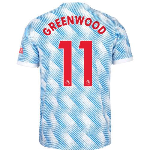 2021/22 Kids adidas Mason Greenwood Manchester United Away Jersey