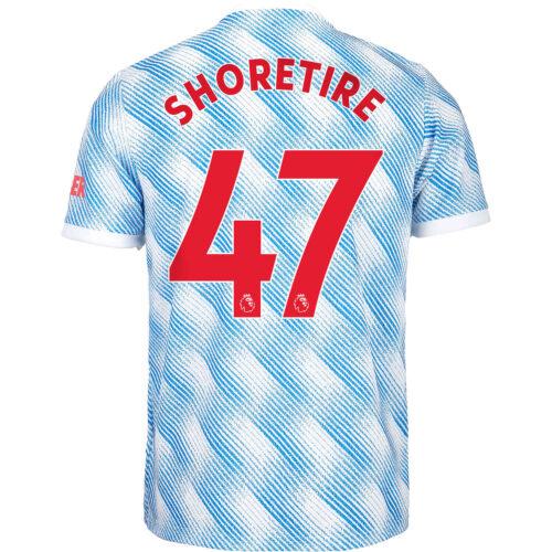2021/22 Kids adidas Shola Shoretire Manchester United Away Jersey