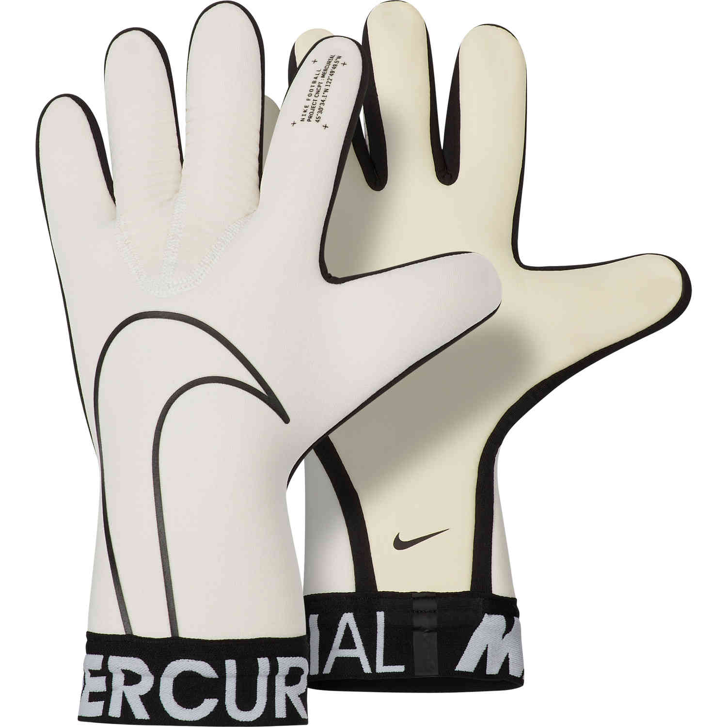 new products c800f fc04d Nike Mercurial Touch Victory Goalkeeper Gloves – White/Black