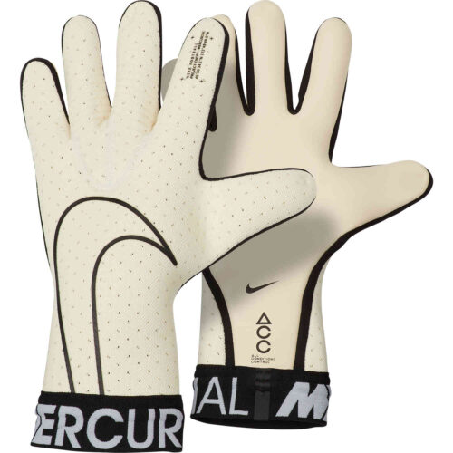 Nike Mercurial Touch Elite Goalkeeper Gloves – White/Black