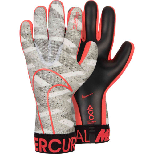 Nike GFX Mercurial Touch Elite Goalkeeper Gloves – White/Black/Laser Crimson